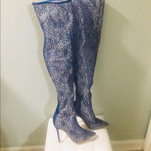 💥New Cape Robbin Royal Blue Thigh High Boots